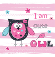 Background with cute owl vector image