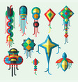 flying kite wind fun toy fly vector image