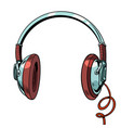 stylish audio headphones isolated on white vector image