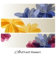 Abstract background with delicate flowers vector image