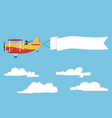 airplane with poster vector image