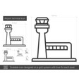 airport terminal line icon vector image