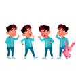 asian boy kindergarten kid poses set baby vector image vector image