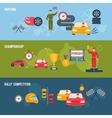 Auto Sport Banner vector image vector image