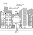 avatar man with board design vector image