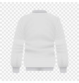 back of white baseball jacket mockup vector image vector image
