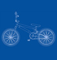 bicycle bmx vector image vector image