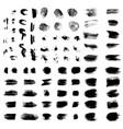 black brush stroke set vector image