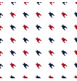 blue and red hounds tooth seamless pattern vector image