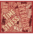 Break a Sweat to Break Your Stress text background vector image vector image