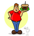 Burger Guy vector image