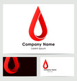 business card template with logo vector image vector image