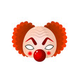 carnival halloween masquerade clown mask with big vector image