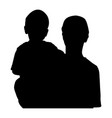 child in the hands of the parent silhouette black vector image vector image