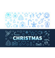 christmas blue modern banners in outline vector image vector image