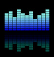 colorful musical equalizer showing volume on black vector image vector image
