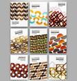 creative backgrounds set vector image vector image