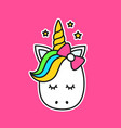 cute unicorn vector image vector image