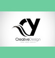 cy c y creative brush black letters design with vector image vector image