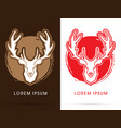 deer head big horn vector image vector image