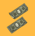 dollars banknotes banks and finance vector image