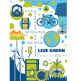 environment and ecology poster green energy planet vector image