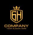 gh logo vector image vector image