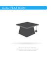 graduates cap icon for web business finance vector image vector image