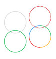 gymnastic hoop isolated hula fitness object hoola vector image
