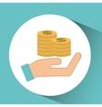 hand concept save money coin dollar vector image vector image