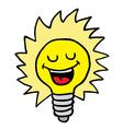 happy lightbulb vector image vector image