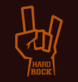 hard rock design vector image vector image