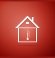 house temperature icon isolated thermometer icon vector image vector image