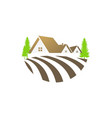 house villa nature landscape logo vector image