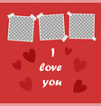 i love you cute poster with space for your text vector image vector image