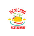 icon for mexican cuisine restaurant vector image vector image