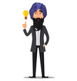 indian business man cartoon character vector image vector image