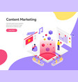 landing page template content marketing vector image vector image