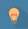 light bulb icon in flat style vector image