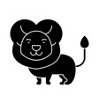 lion cute icon black sign on vector image vector image