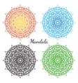 Mandala set East round ornament elements vector image vector image