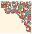 Original hand draw ornate floral background vector image