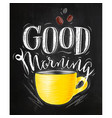 poster good morning chalk vector image vector image