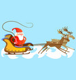 santa claus in a red hat and jacket with a beard vector image vector image