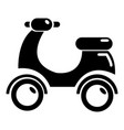 scooter icon simple style vector image vector image