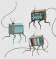 set characters tv vector image vector image