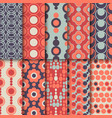 Set of seamless colorful retro patterns with vector image vector image