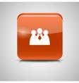 Shine Glossy Computer Icon Social Network vector image vector image