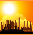 silhouette of factories vector image