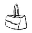 sketch handbag accessory travel icon vector image